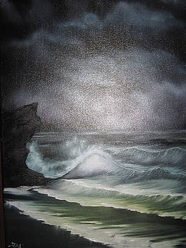 Night Seascape by Jim Carreau