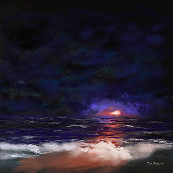 Night Shoreline by Dick Bourgault