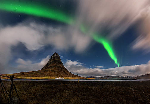 Night sky Aurora blast, Iceland by Pradeep Raja PRINTS
