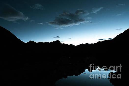 Night sky Himalayas Tibet Yantra.lv by Raimond Klavins