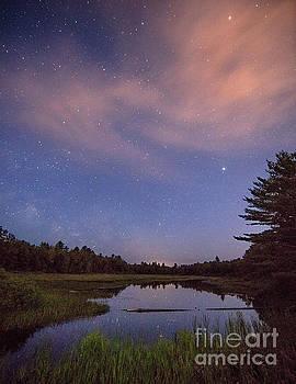 Night Sky Over Maine by Martin Konopacki