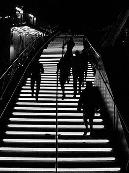 Night Stairway by Sal Ovadia