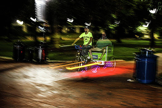 Night-time bike ride-Long exposure by Maxwell Dziku