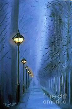 Derek Rutt - Night Time Fog In Paris