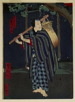 Utagawa Yoshitaki - Night Traveler