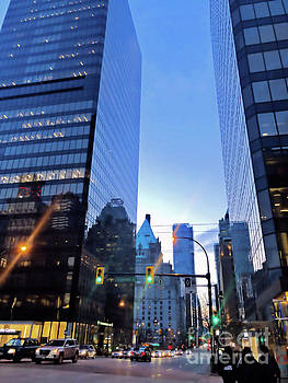 Nightfall in Vancouver by Victor K