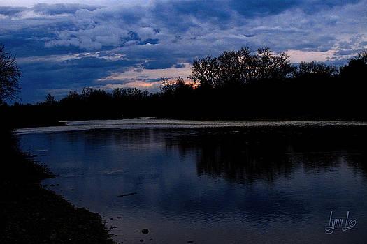 Nightfall on the American River by S Lynn Lehman
