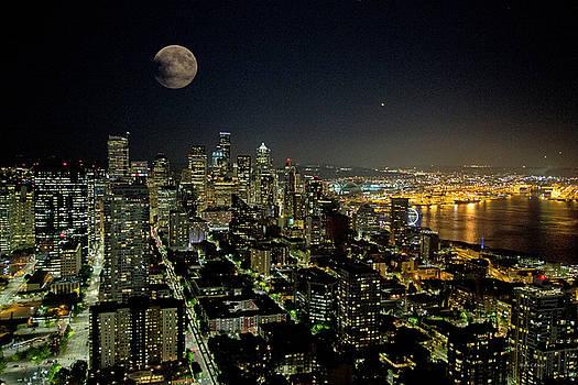 Nightlights Seattle Washington  by Betsy Knapp