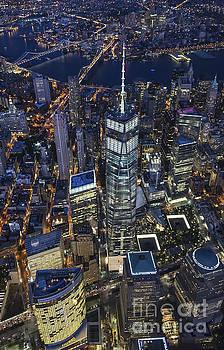 Nighttime Aerial View of 1 WTC by Roman Kurywczak