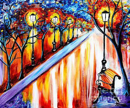 Nighttime Alley by Art by Danielle