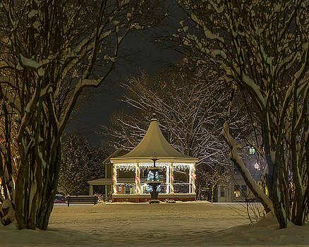 Nighttime Gazebo by Tim Kirchoff