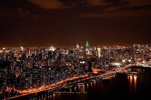Nighttime in Manhattan by John Majoris