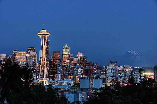 Nighttime in Seattle by Dennis Kowalewski