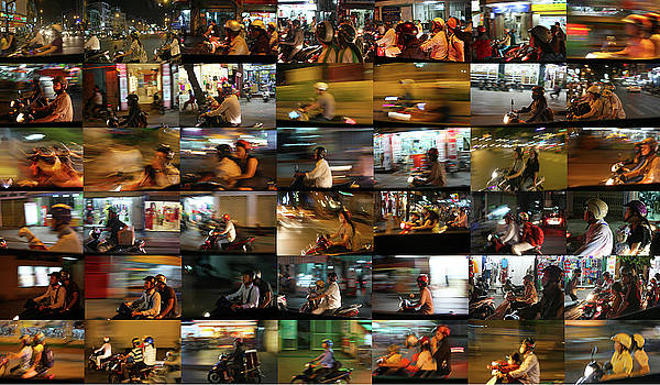 Nighttime Scooters, Hanoi by Stephen Farley