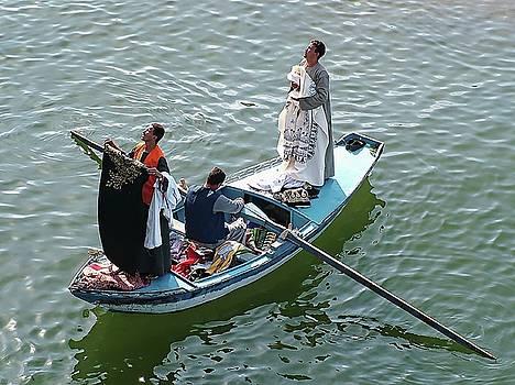 Nile River Garment Vendors - Egypt by Joseph Hendrix