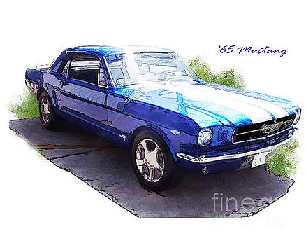 Nineteen Sixty-Five Mustang by Margie Middleton