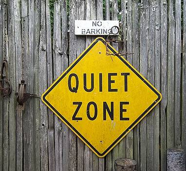 No Barking Quiet Zone by Helen  Campbell