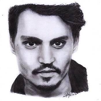 Johnny Depp Drawing By Sofia Furniel by Jul V