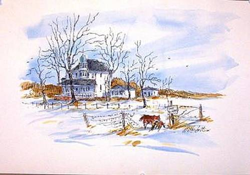 No Hunting- Original Watercolor by Larry Wetherholt
