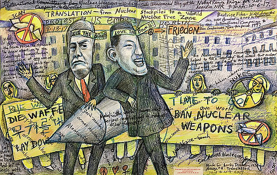 No Nukes ICAN Nobel Peace Prize 2017 by Susan  Shie