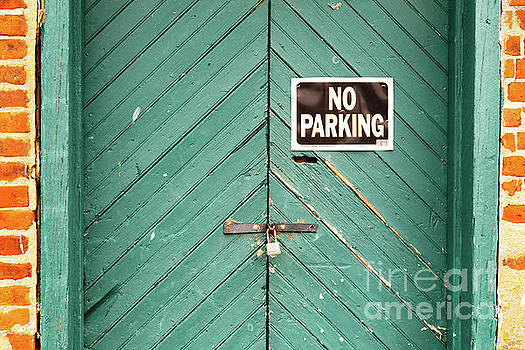 No Parking Warehouse Door by George Sheldon