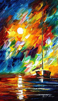 No Wind Zone - PALETTE KNIFE Oil Painting On Canvas By Leonid Afremov by Leonid Afremov