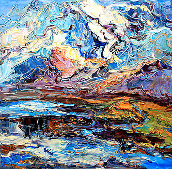 No.1 Landscape in Tibet by Zhang Jiyu