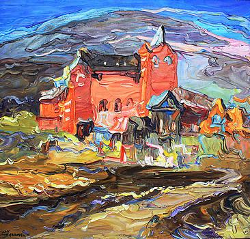 No.2 Landscape in Tibet by Zhang Jiyu