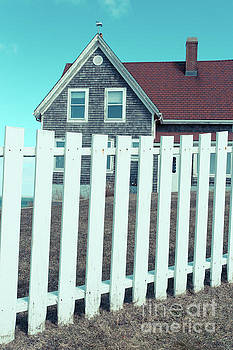 Nobska Light Traditional White Picket Falmouth MA by Edward Fielding