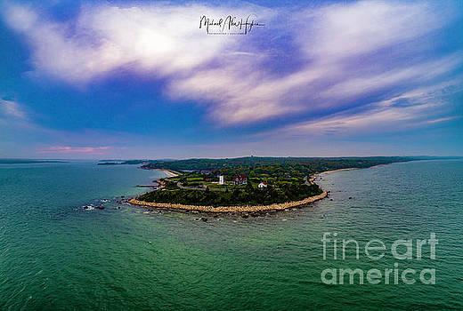 Nobska Lighthouse Panorama by Michael Hughes