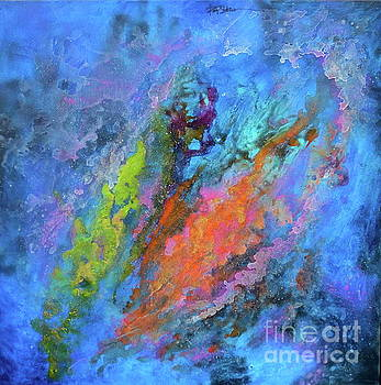 NOCTURNE NEBULA Abstract Painting by Robert Birkenes