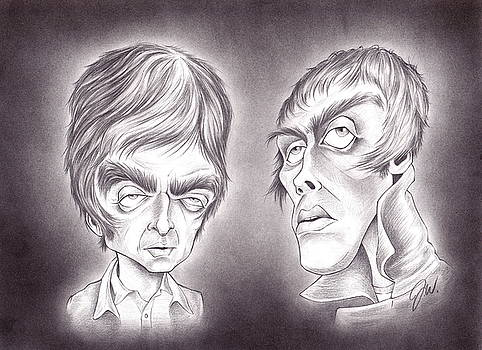 Noel and Liam Gallagher by Jamie Warkentin