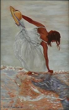 Noia A La Platja by Xavier Florensa