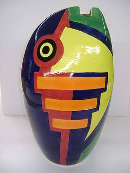 Nolan Fish Vase by Chris Mackie
