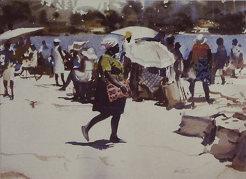 Noontime Market by Charles Hawes