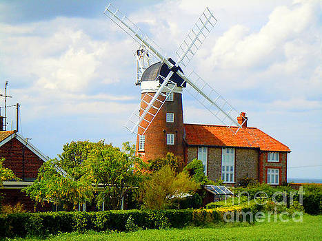 Norfolk Broads Windmill by Anne Gordon