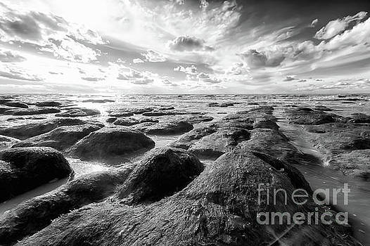 Norfolk rugged coastline black and white by Simon Bratt Photography LRPS