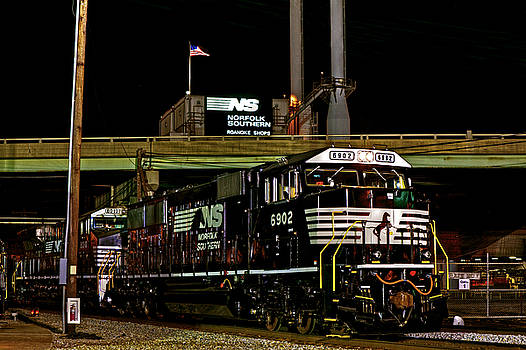 Norfolk Southern by Night by Mark East