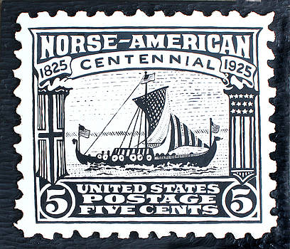 Norse-American Centennial Stamp by James Neill