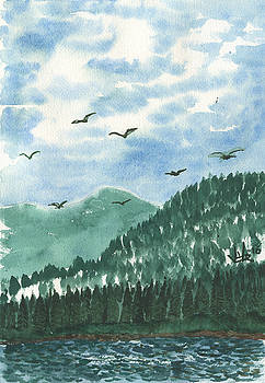 Norshore on the Clarkfork by Victor Vosen