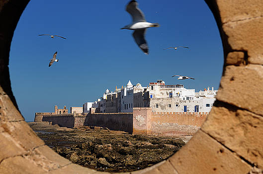 Reimar Gaertner - North bastion and ramparts of Essaouira Morocco viewed from Sqal