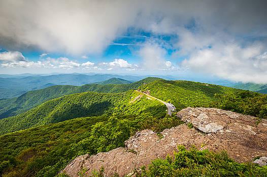 North Carolina Blue Ridge Parkway Asheville NC Landscape by Dave Allen
