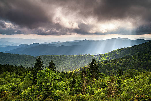 North Carolina Blue Ridge Parkway Scenic Mountain Landscape by Dave Allen
