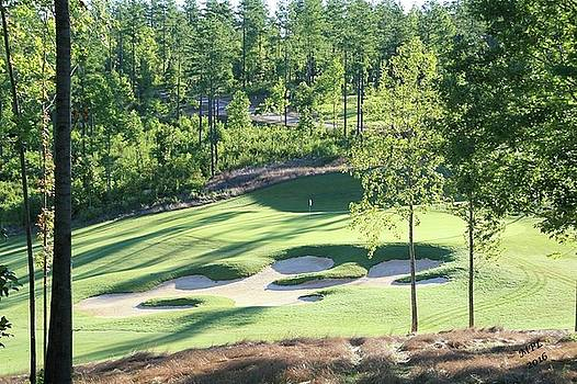 North Carolina Golf Course 12th Hole by Marian Palucci-Lonzetta
