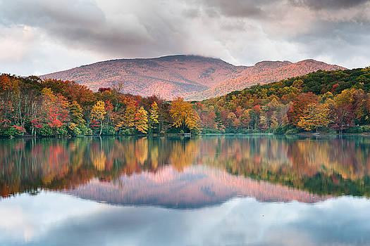 North Carolina Grandfather Mountain Price Lake Autumn Reflection by Mark VanDyke