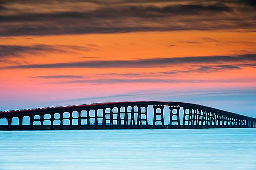 North Carolina Outer Banks Herbert C. Bonner Oregon Inlet Bridge by Mark VanDyke