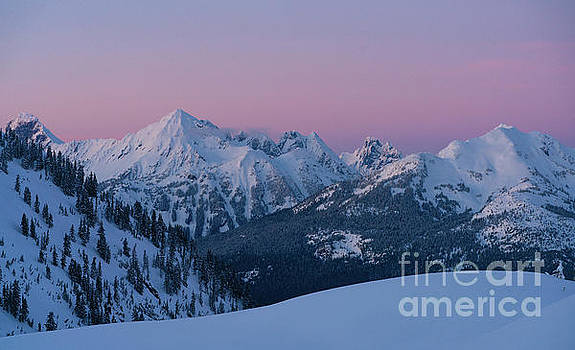 North Cascades Peaks at Dusk by Mike Reid