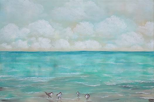 North Florida Sand Pipers by Holly Donohoe