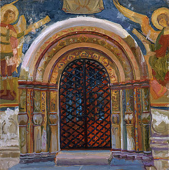 North portal, Dormition Cathedral. Kremlin museums by Yana Poklad