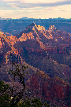 North Rim Sunset No1 by Edwin Voorhees